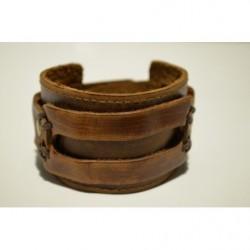 Široký kožený náramok GWU10027