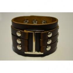 Široký kožený náramok GWU10037