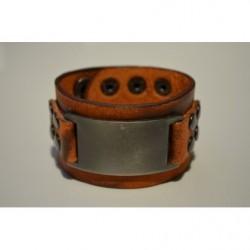 Široký kožený náramok GWU10038